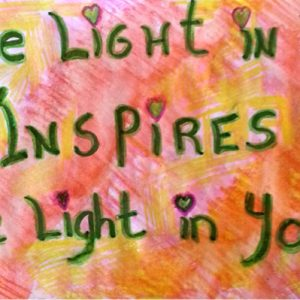 The Light in Me Inspires the Light in You - Inspirational SIgn - Darryn Silver