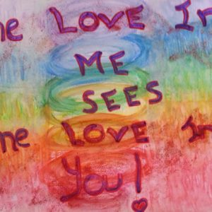 The Love in Me Sees the Love in You - Inspirational Sign - Darryn Silver